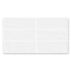 Revestimento Brilhante Borda Reta Laterizi Lux Bianco 32x60cm - Biancogres