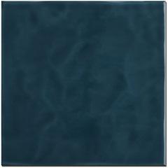 Revestimento Brilhante Borda Reta Marinha Azul Petróleo Onda 20x20cm - Eliane