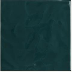 Revestimento Brilhante Borda Reta Marinha Verde Musgo Onda 20x20cm - Eliane