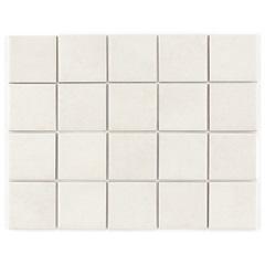 Revestimento Brilhante Borda Reta Munari Branco Mesh 7,5x7,5cm - Eliane