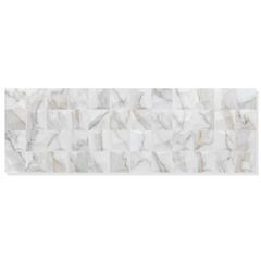Revestimento Brilhante Retificado Calacata Branco 30x90cm - Eliane