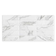 Revestimento Brilhante Retificado Retro Branco 45x90cm - Eliane