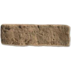 Revestimento Cimentício Brique Terracota Carvão 21x6,5cm - Passeio