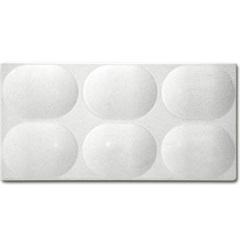 Revestimento Cimentício Dome Convexa Marfim 12,5x25cm - Revest