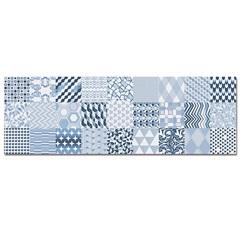 Revestimento Esmaltado Acetinado Borda Reta Alfama Azul 30x90cm - Incepa