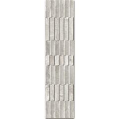 Revestimento Esmaltado Acetinado Borda Reta Brise Concreto 28,8x119cm - Ceusa