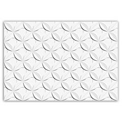 Revestimento Esmaltado Acetinado Borda Reta Dália Branco 43,7x63,1cm - Ceusa