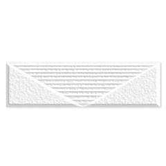 Revestimento Esmaltado Acetinado Borda Reta Debrum Branco 7x24cm - Ceusa