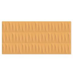 Revestimento Esmaltado Acetinado Borda Reta Rubik Amarelo 43,2x91cm - Ceusa