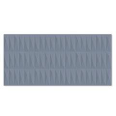 Revestimento Esmaltado Acetinado Borda Reta Rubik Azul 43,2x91cm - Ceusa