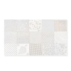 Revestimento Esmaltado Acetinado Rústico Borda Bold Hd Bege 32,5x56,5cm - Incefra