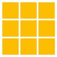 Revestimento Esmaltado Brilhante Amarelo 10x10cm - Tecnogres