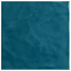 Revestimento Esmaltado Brilhante Borda Bold Azul Mar Onda 20x20cm - Eliane