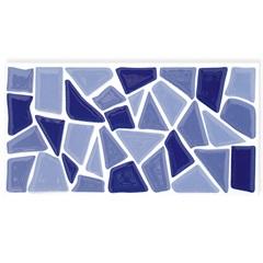 Revestimento Esmaltado Brilhante Borda Bold Salvador Azul 10x20cm - Eliane
