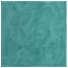Revestimento Esmaltado Brilhante Borda Bold Verde Água Onda 20x20cm - Eliane