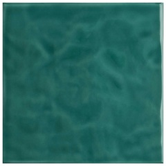 Revestimento Esmaltado Brilhante Borda Bold Verde Jade Onda 20x20cm - Eliane
