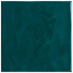 Revestimento Esmaltado Brilhante Borda Bold Verde Musgo Onda 20x20cm - Eliane