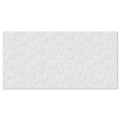 Revestimento Esmaltado Brilhante Borda Reta Canelado Branco 43,2x91cm - Ceusa