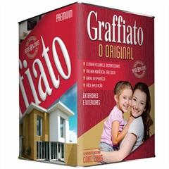 Revestimento Graffiato Premium Riscado Vermelho 28kg - Graffiato