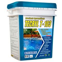 Revestimento Impermeabilizante T-103 18kg Branco - Tecryl Impermeabilizantes