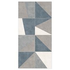 Revestimento Lux Borda Reta Blues Abstract 29,1x58,4cm - Portinari
