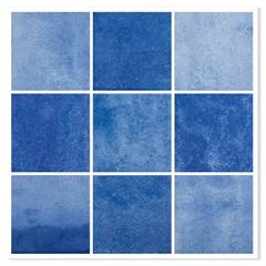 Revestimento Matte Borda Bold Noronha Safira Mesh Azul 10x10cm - Eliane