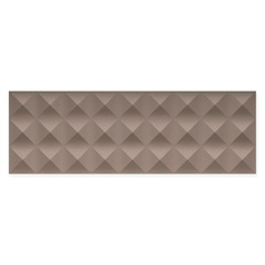 Revestimento Matte Borda Reta Quadra Prisma Dark Brown 29,1x87,7cm - Portinari