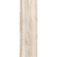 Revestimento Monoporoso Brilhante Borda Reta Travertino Rosê 30x90cm - Porto Ferreira