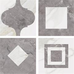 Revestimento Palace Bianco Kit com 10 Peças 20,5x20,5cm - Biancogres