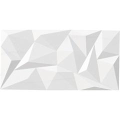 Revestimento Relevo Acetinado Borda Reta Louvre Branco Gelo E Cinza 74x38 - Savane