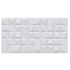 Revestimento Relevo Borda Reta Geometric Bianco 32x60cm - Biancogres
