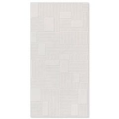Revestimento Relevo Borda Reta Milano Bianco 45x90cm - Biancogres