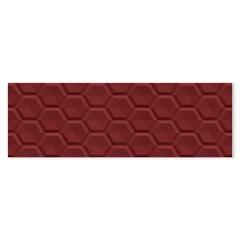 Revestimento Retificado Acetinado Colmeia Vermelho 30x90cm - Eliane