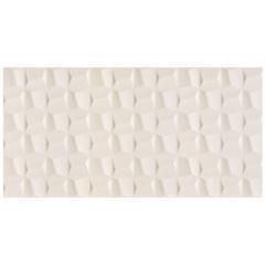 c8d0e0c5290f4 Revestimento Retificado Acetinado Cubic Pérola 45x90cm com 2 Peças Branco -  Eliane