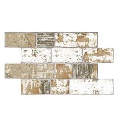 Revestimento Rústico Borda Bold Bricks Antigua Bege E Branco 31x54cm - Savane