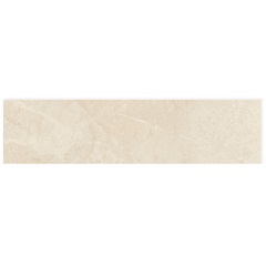 Rodapé de Porcelanato Natural Marmi Classico Avorio Di Brescia 20x90cm - Portobello