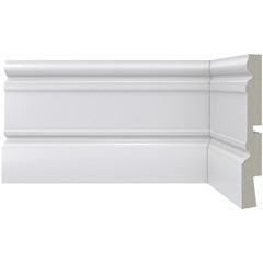 Rodapé em Poliestireno Moderna 441 Branco 5x240cm - Santa Luzia
