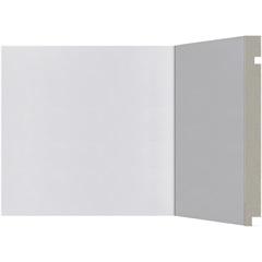 Rodapé em Poliestireno Moderna 506 Branco 20x240cm - Santa Luzia
