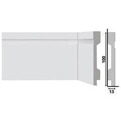 Rodapé em Poliestireno Renova Flex com Friso E Vinco 1,3x10x220cm Branco - Santa Luzia