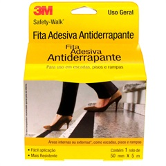 Rolo de Fita Antiderrapante Safety-Walk 50mm com 5 Metros Preto - 3M