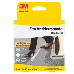 Rolo de Fita Antiderrapante Safety-Walk 50mm com 5 Metros Transparente - 3M
