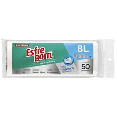 Rolo de Saco para Lixo de Pia E Banheiro Branca 8 Litros  - Bettanin