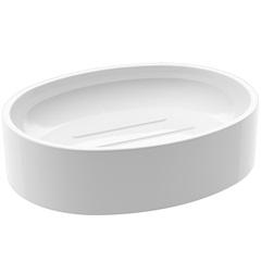 Saboneteira de Plástico Spoom Classic 11,5x8,9cm Branca - Coza
