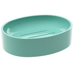 Saboneteira de Plástico Spoom Classic 11,5x8,9cm Verde Elétrico - Coza