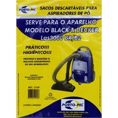 Saco Descartável para Aspiradores Black & Decker Las 3000  - Porto Pel