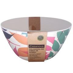 Saladeira em Fibra de Bambu 24cm Colorido - Casanova