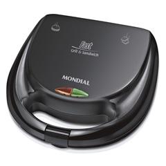 Sanduicheira Fast Grill 750w 220v Preta - Mondial