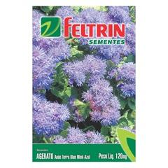 Semente de Flor Agerato Mink Azul 120mg - Feltrin