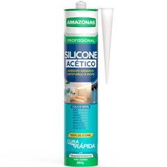 Silicone Acético para Uso Geral 280g Incolor - Amazonas