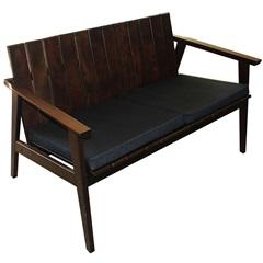 Sofá para 2 Lugares em Madeira com Estofado 72,5x119,8x69,9cm Mogno - Tramontina